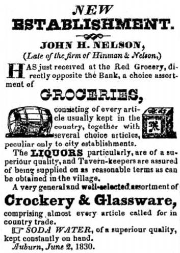 newspaper ad 1830