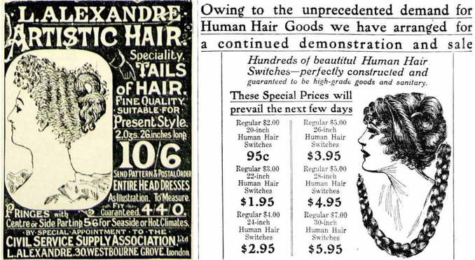 Ads for human hair products