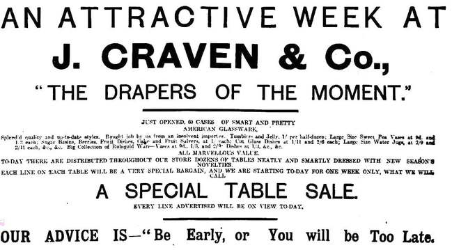 Adelaide newspaper ad