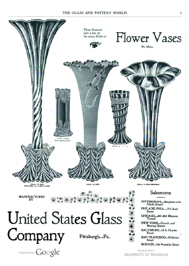 United Staes Glass ad