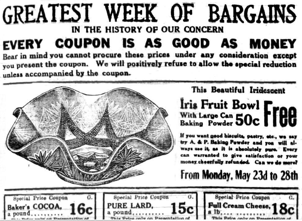 Newspaper ad 1910