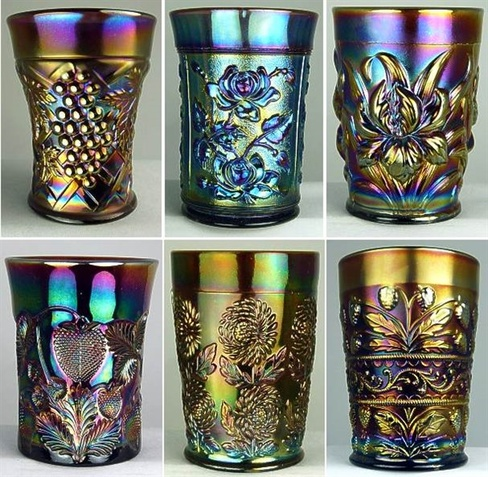 Carnival Glass tumblers