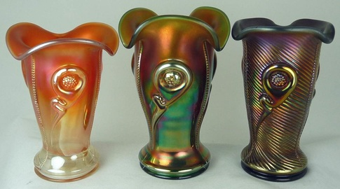 Tornado vases, Northwood