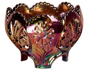 Sunk Daisy Carnival Glass