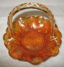 Duchesse Carnival Glass basket