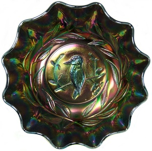 Kingfisher bowl, Crown Crystal