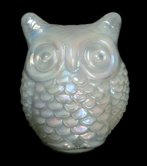 Small Carnival Glass owl