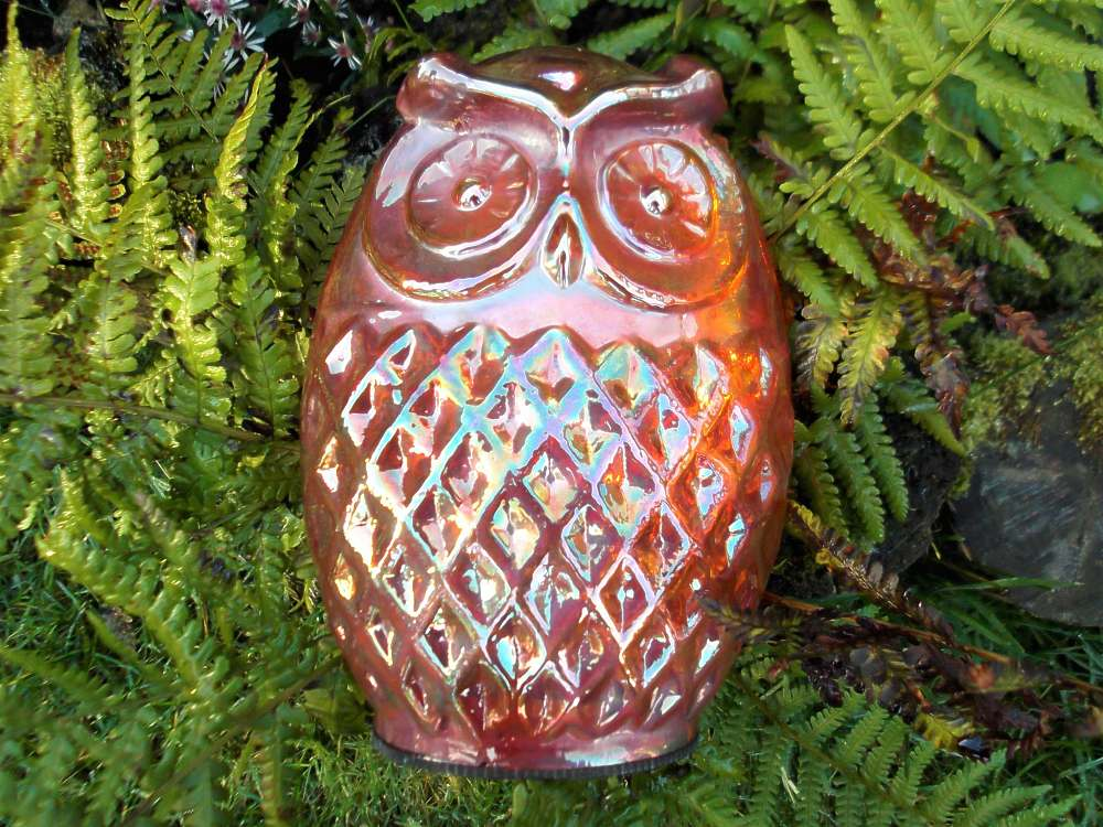 Carnival Glass owl