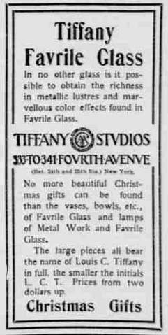Newspaper ad 1900