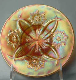 Four Flowers plate