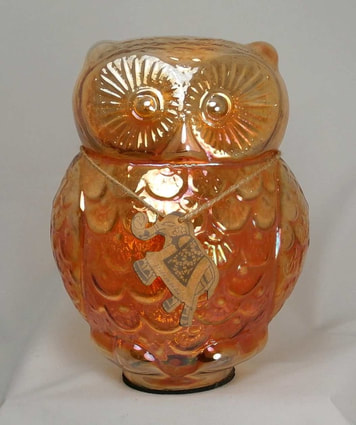 Large Carnival Glass owl