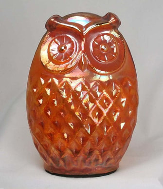 Medium Carnival Glass owl