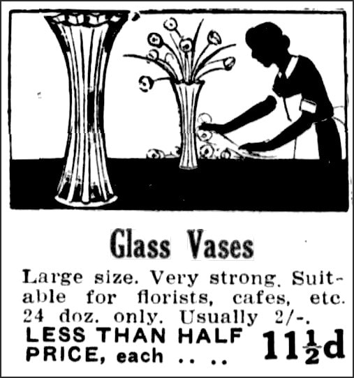 Newspaper ad 1930