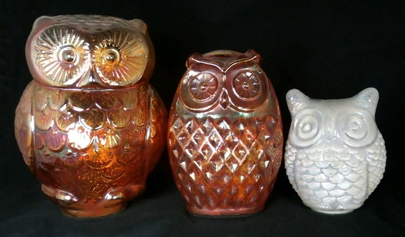 Carnival Glass owls